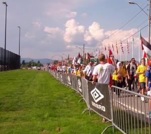 Fra paraden i Norway Cup